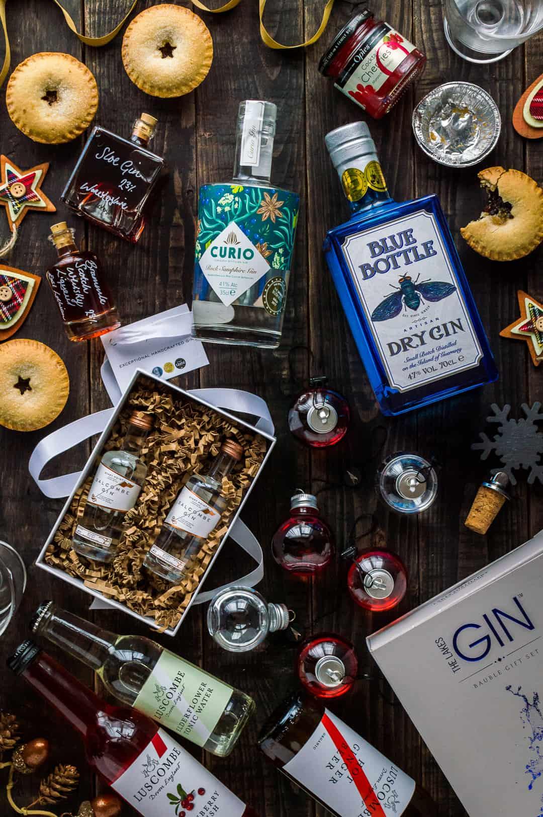 Christmas gins and drinks