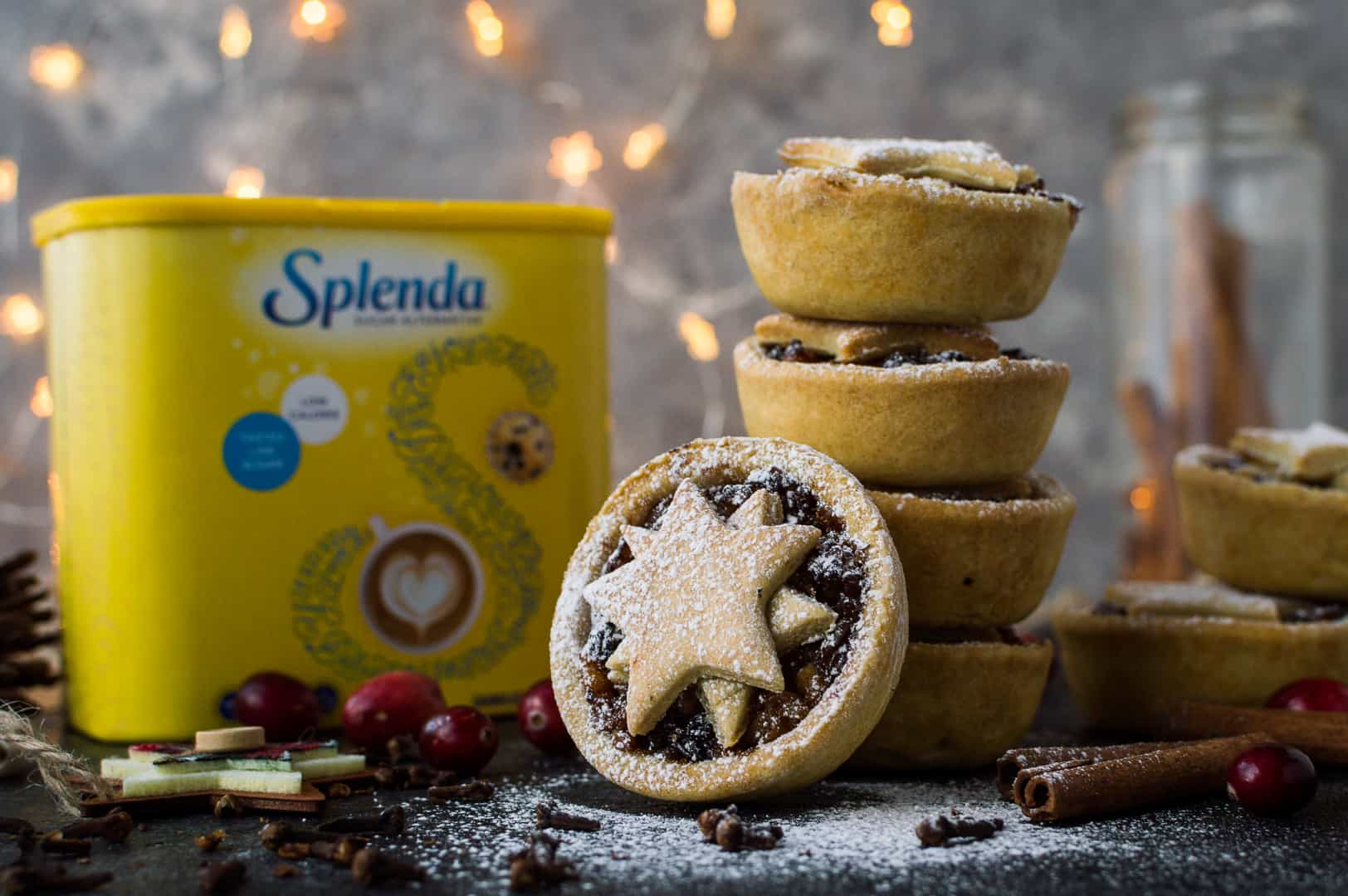Lighter mince pies made with Splenda - refined sugar free.