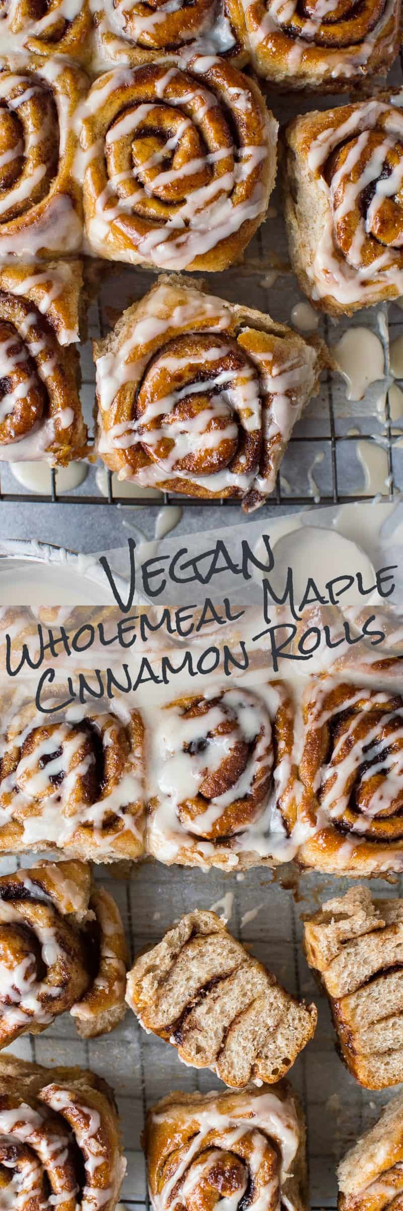 Maple cinnamon rolls pinterest image