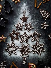 Chocolate gingerbread biscuits - a chocolatey twist on classic gingerbread biscuits; they make great cut-outs for Christmas!
