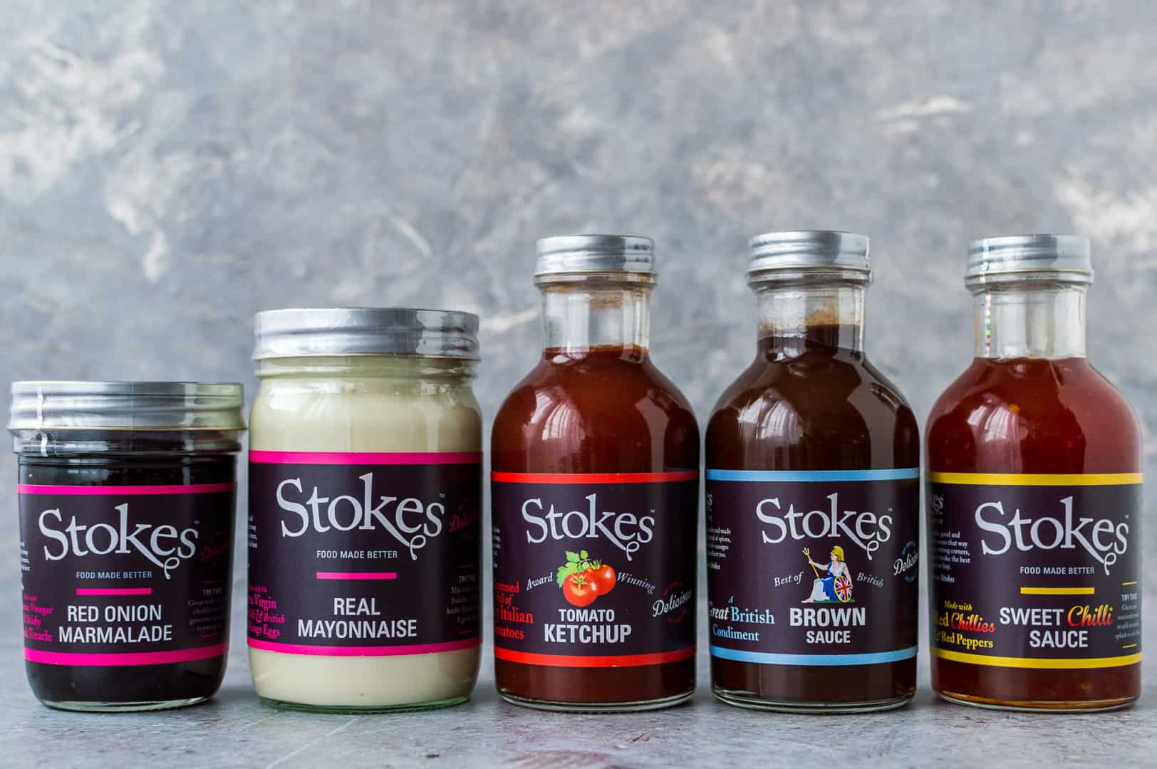 Stokes range of sauces