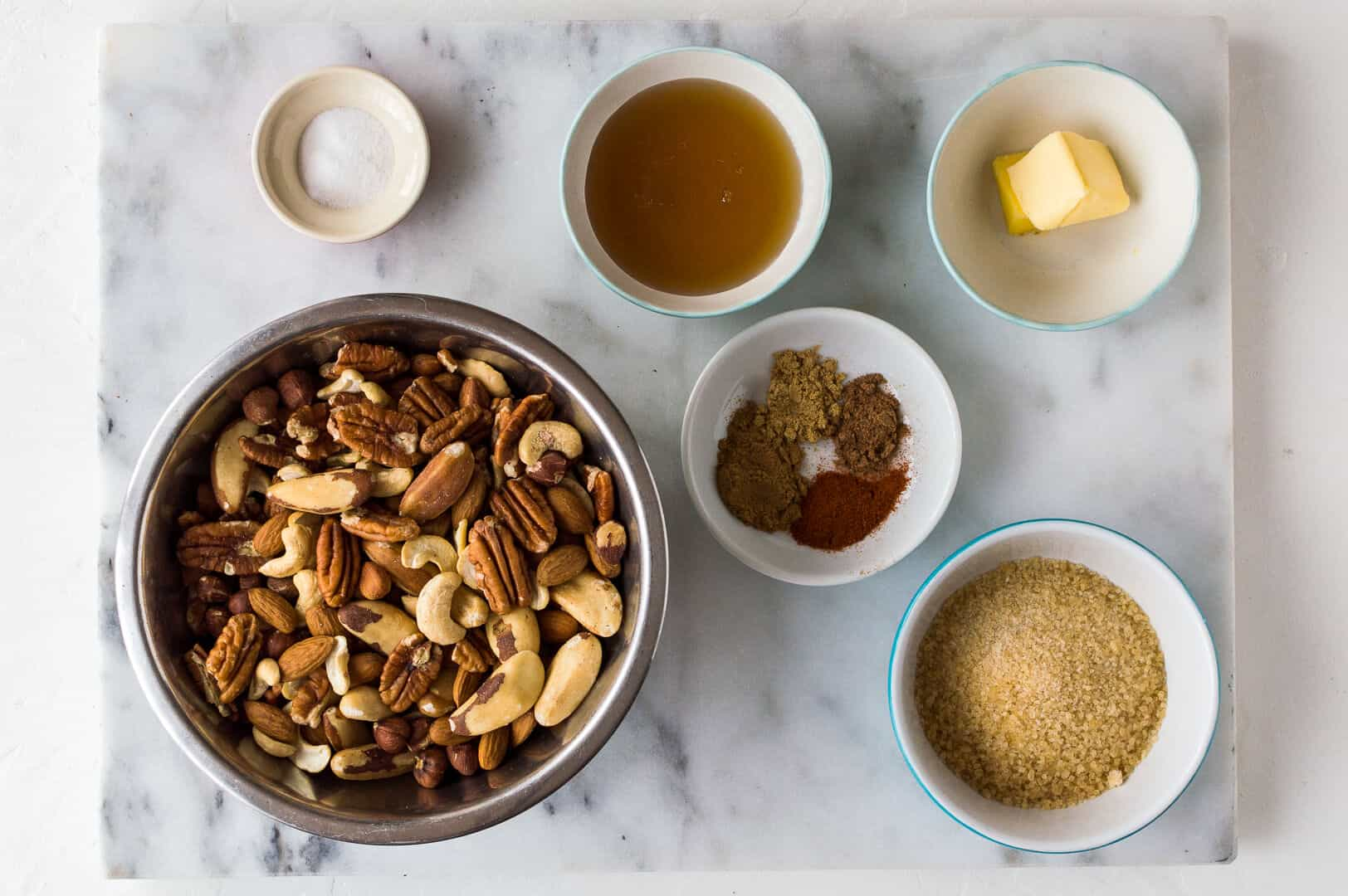 spiced honey roasted nuts ingredients
