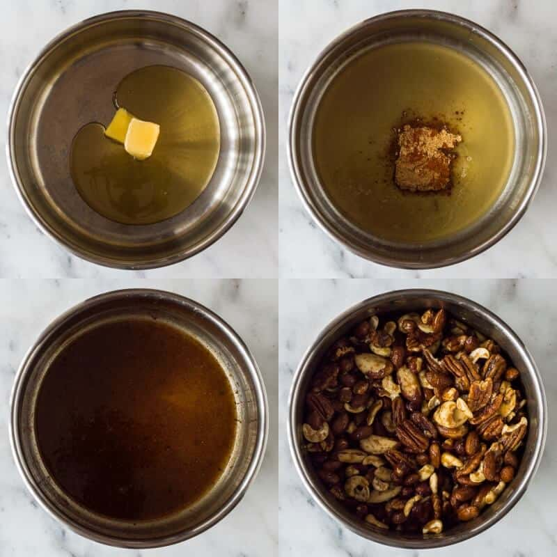 spiced honey roasted nuts step 1