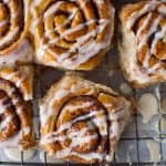 vegan wholewheat maple cinnamon buns - incredibly good cinnamon rolls flavoured with maple syrup that just so happen to be vegan too!