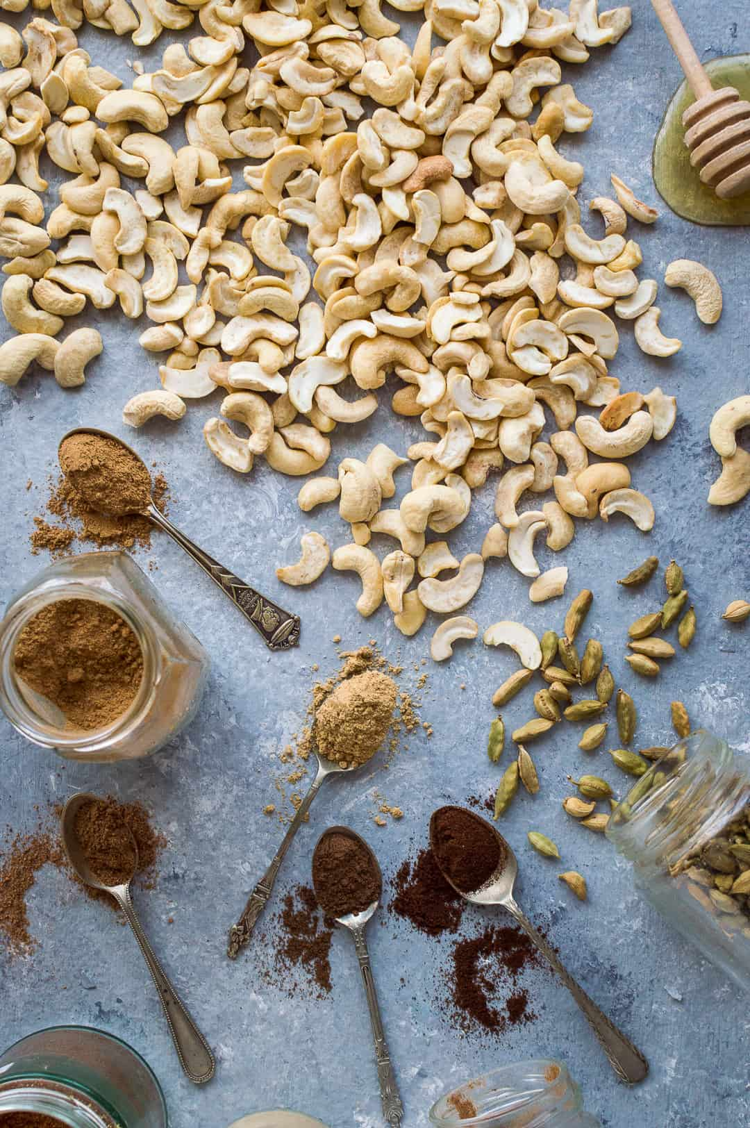 Chai spiced cashew butter ingredients