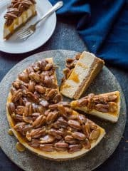Pecan pie cheesecake - two amazing desserts rolled into one to give the best of both worlds!
