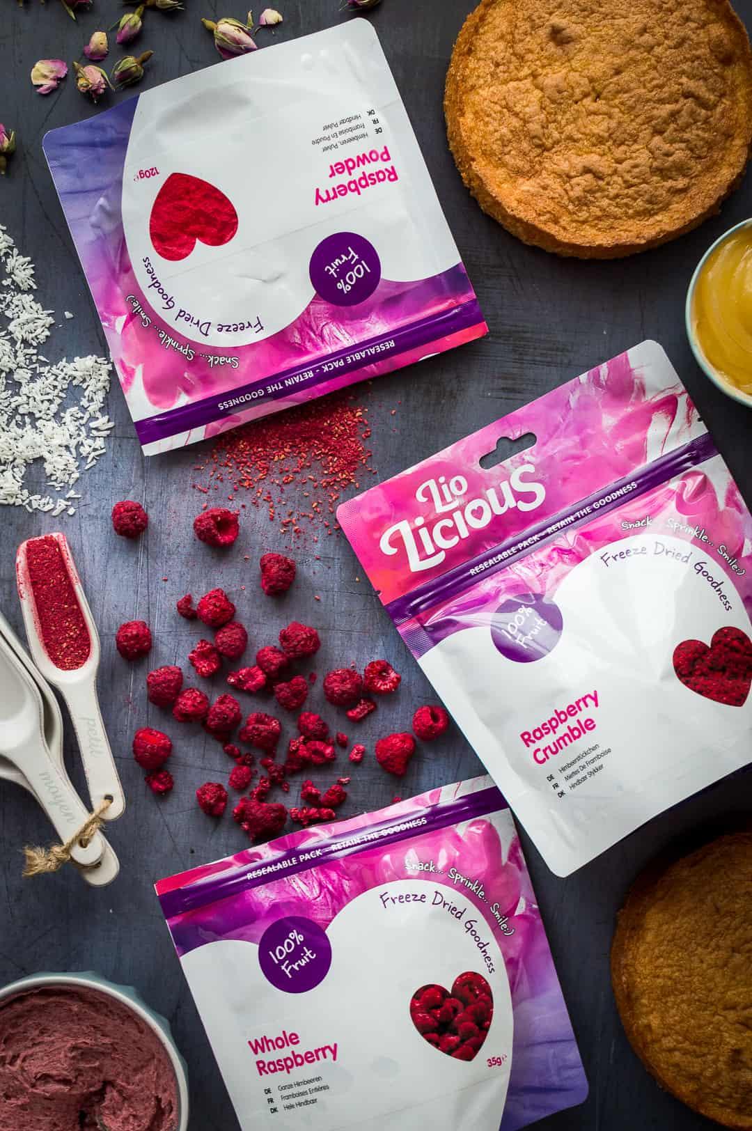 Lio-Licious freeze dried raspberries