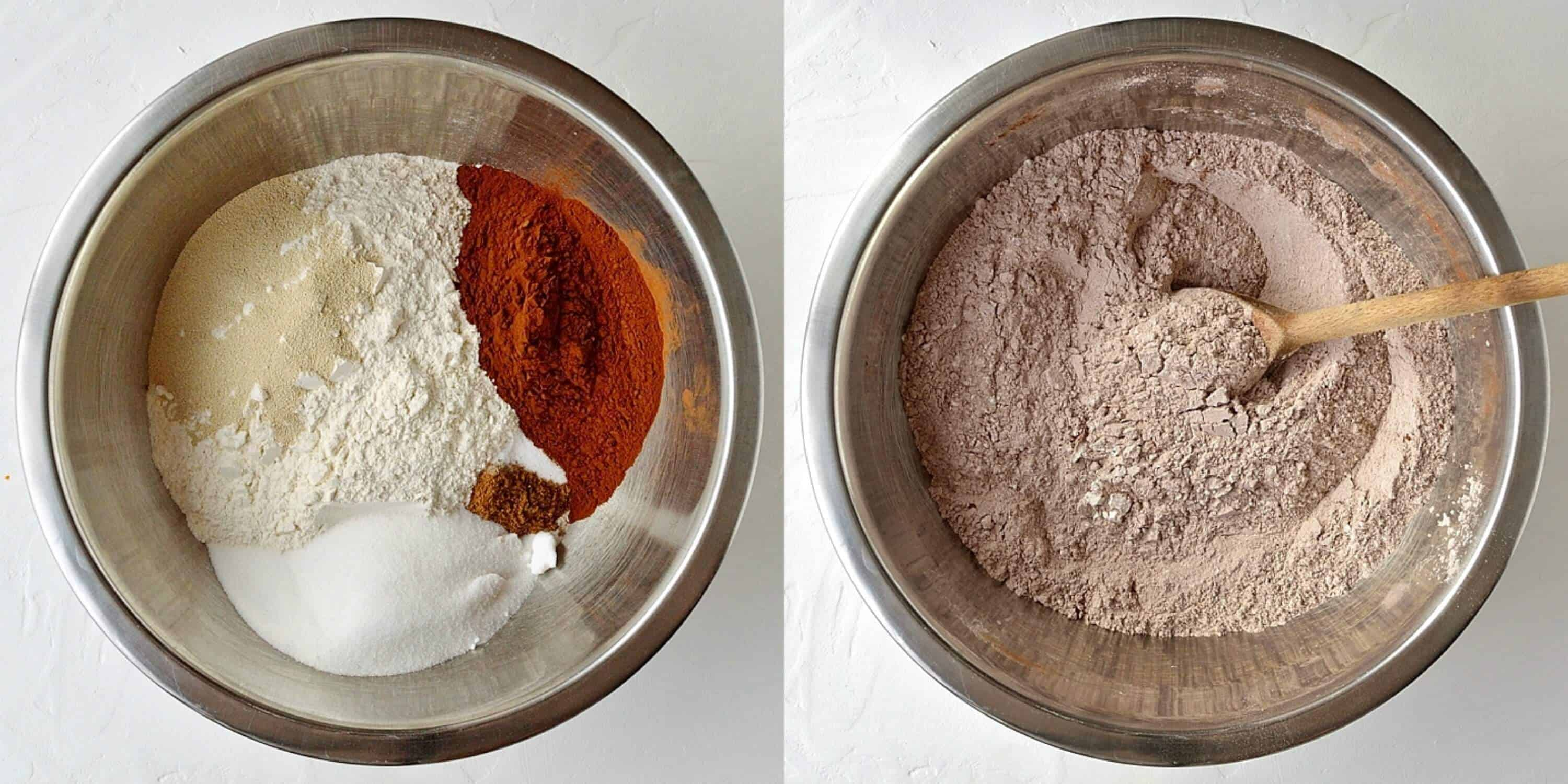 step 1 - mixing the dry ingredients