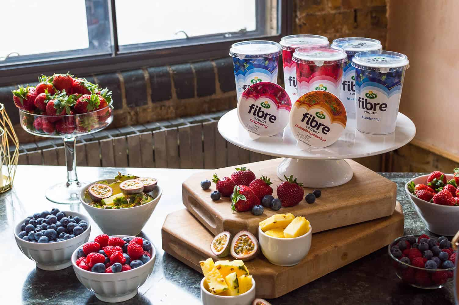 arla fibre yogurts and fruit