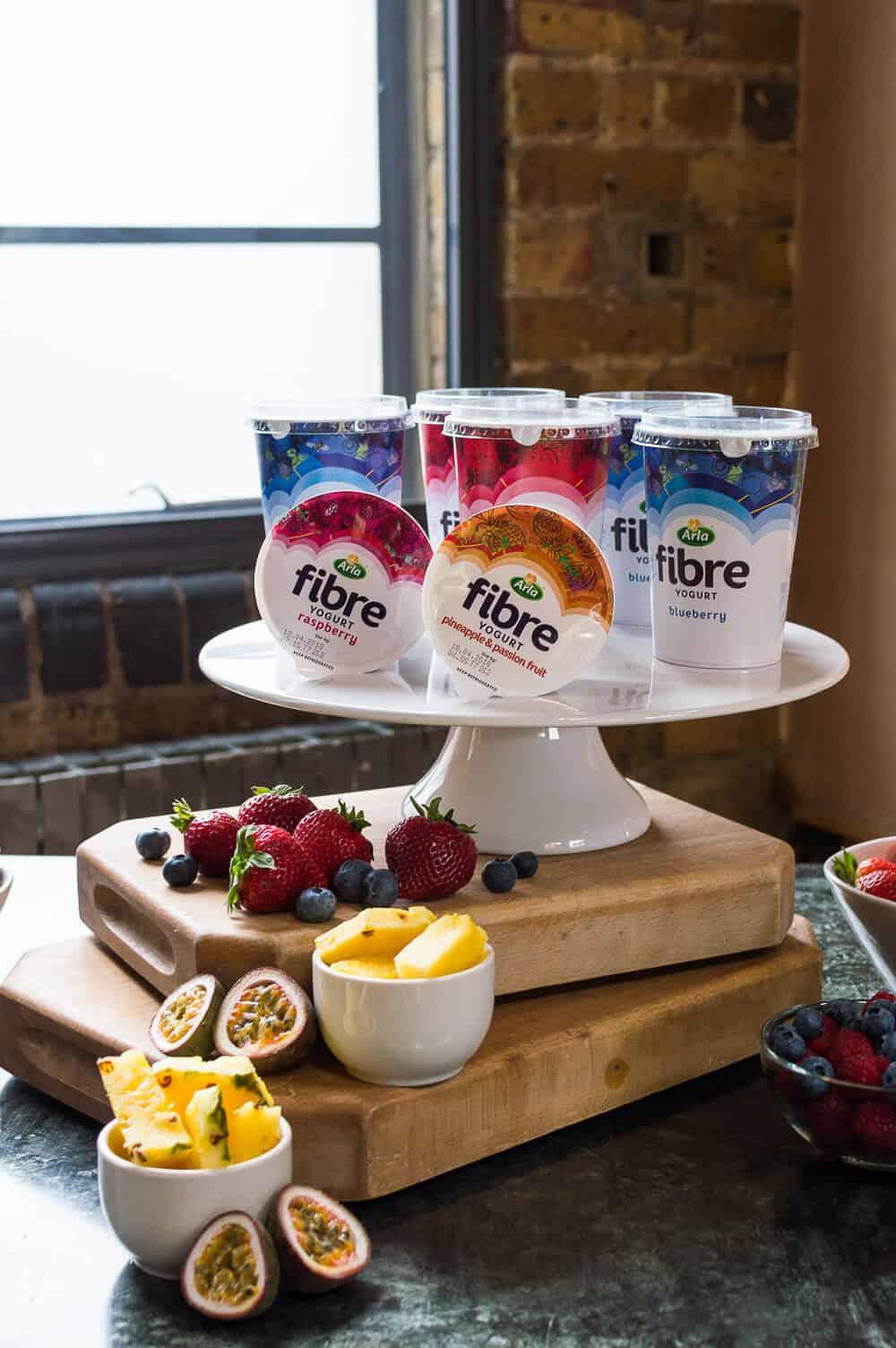 arla fibre yogurts