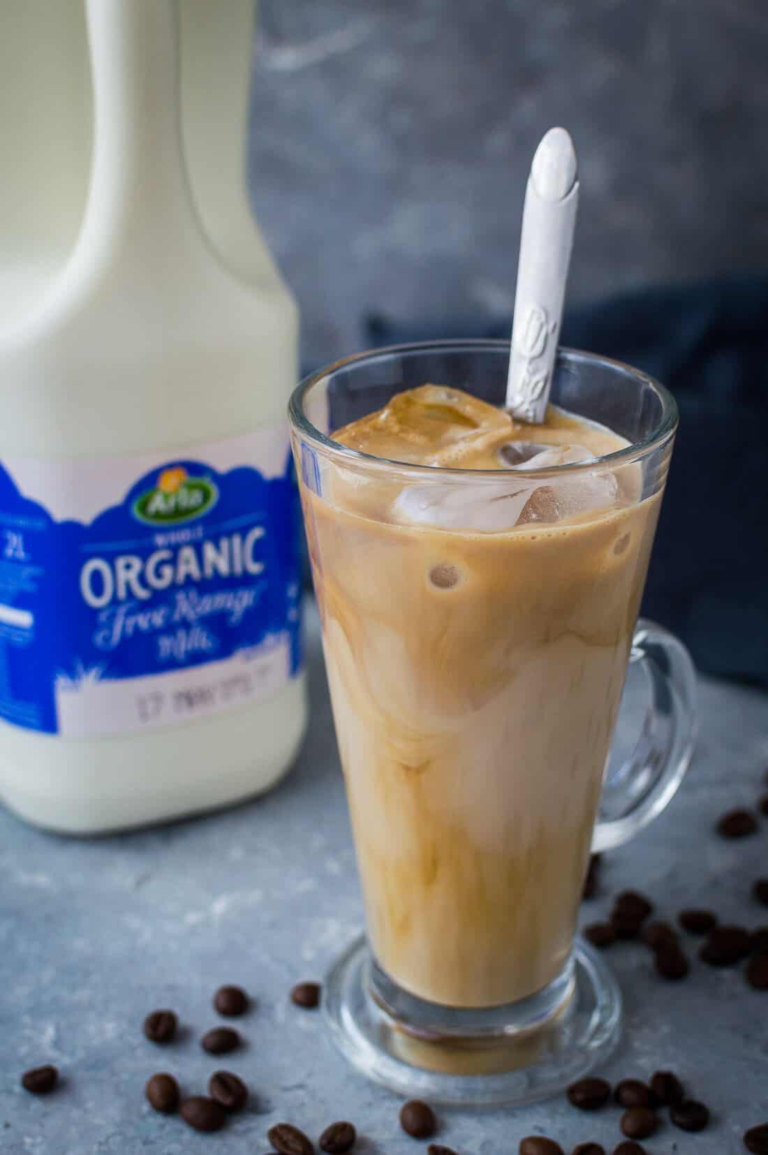 iced coffee with Arla organic whole milk