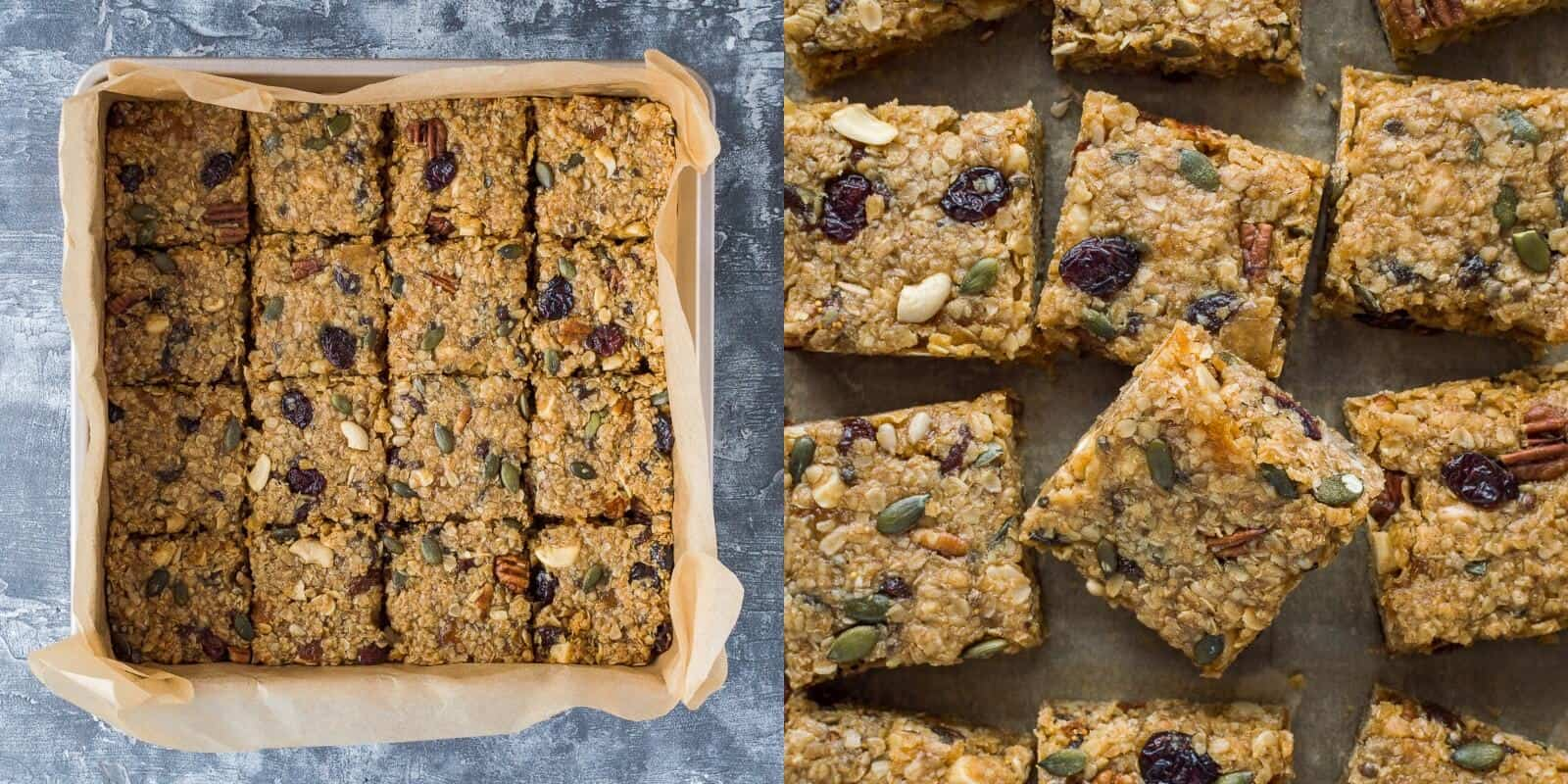 vegan fruit and nut flapjacks step 4