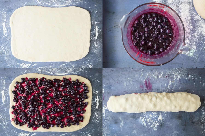 lemon blueberry rolls step 3