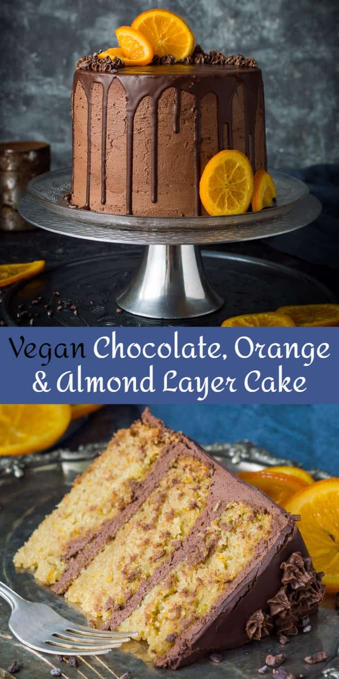 chocolate orange almond cake pinterest image