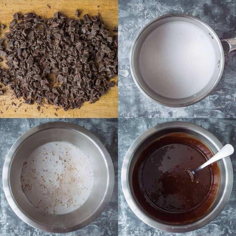 vegan chocolate sheet cake step 1