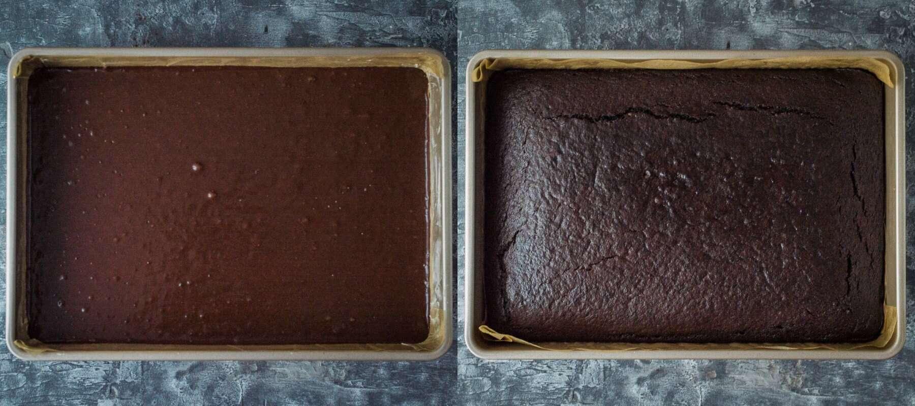 vegan chocolate sheet cake step 3