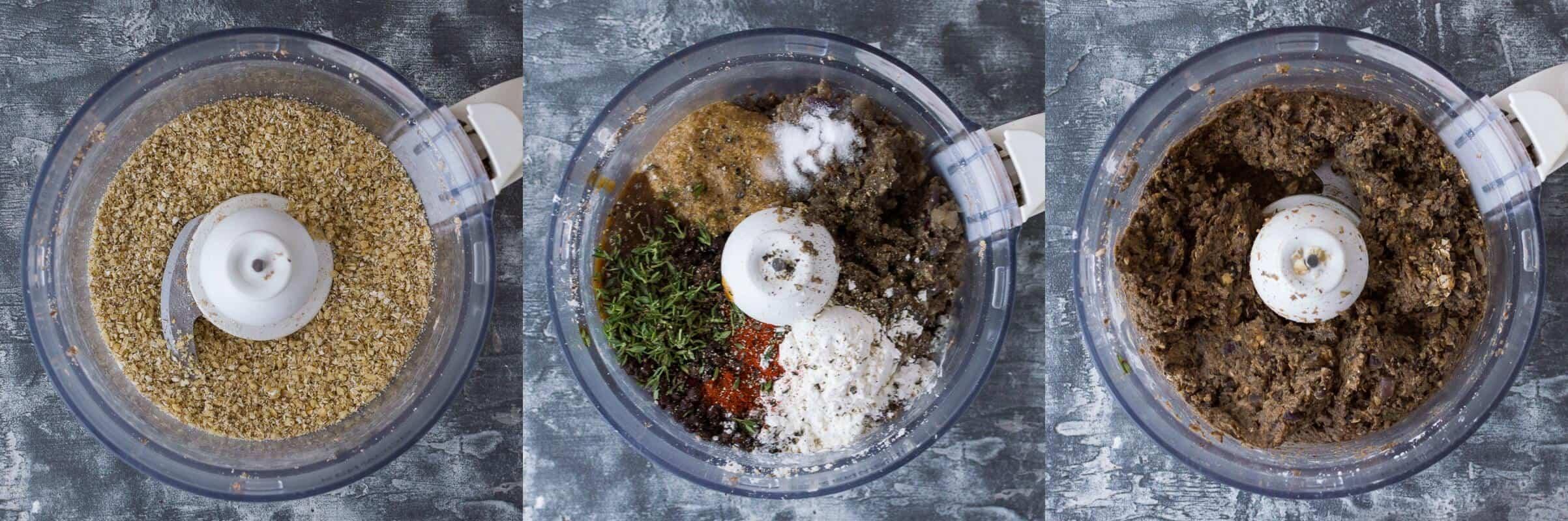mushroom lentil burgers step 3