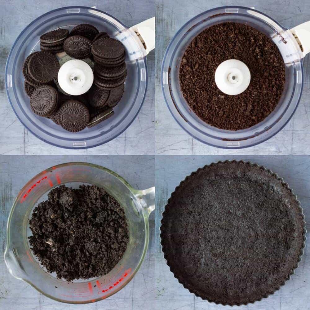 no-bake chocolate tart step 1