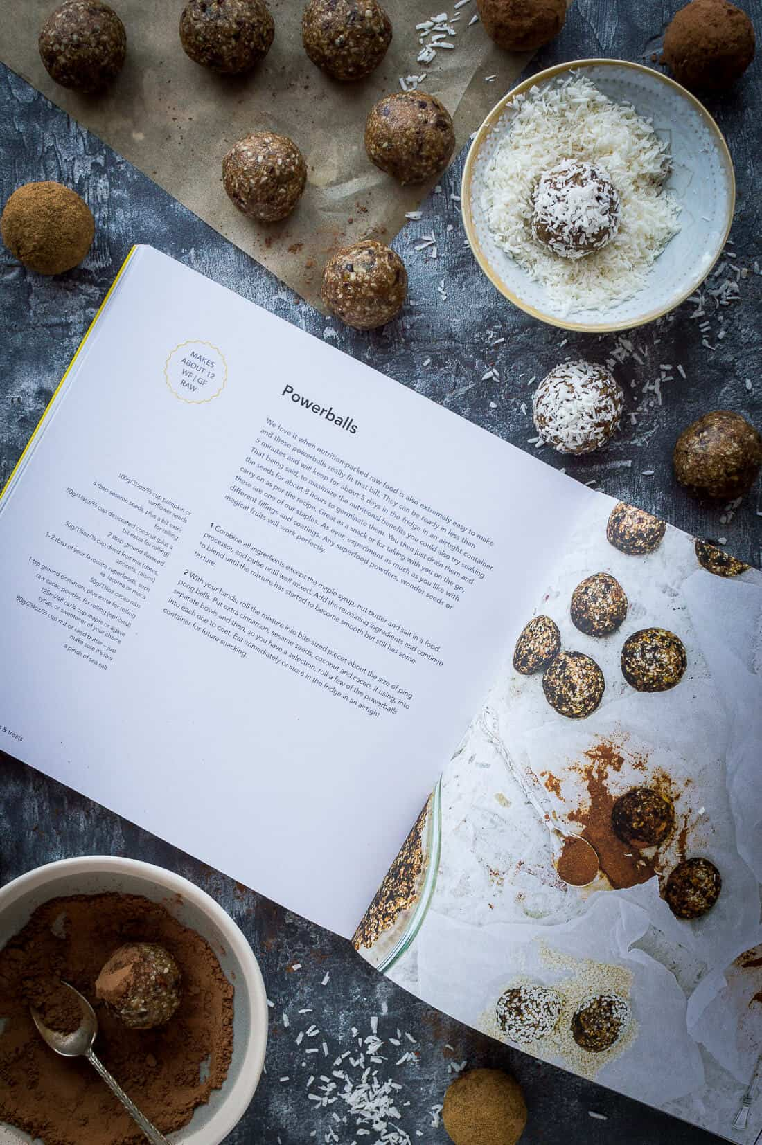 Powerballs recipe in fresh vegan kitchen cookbook