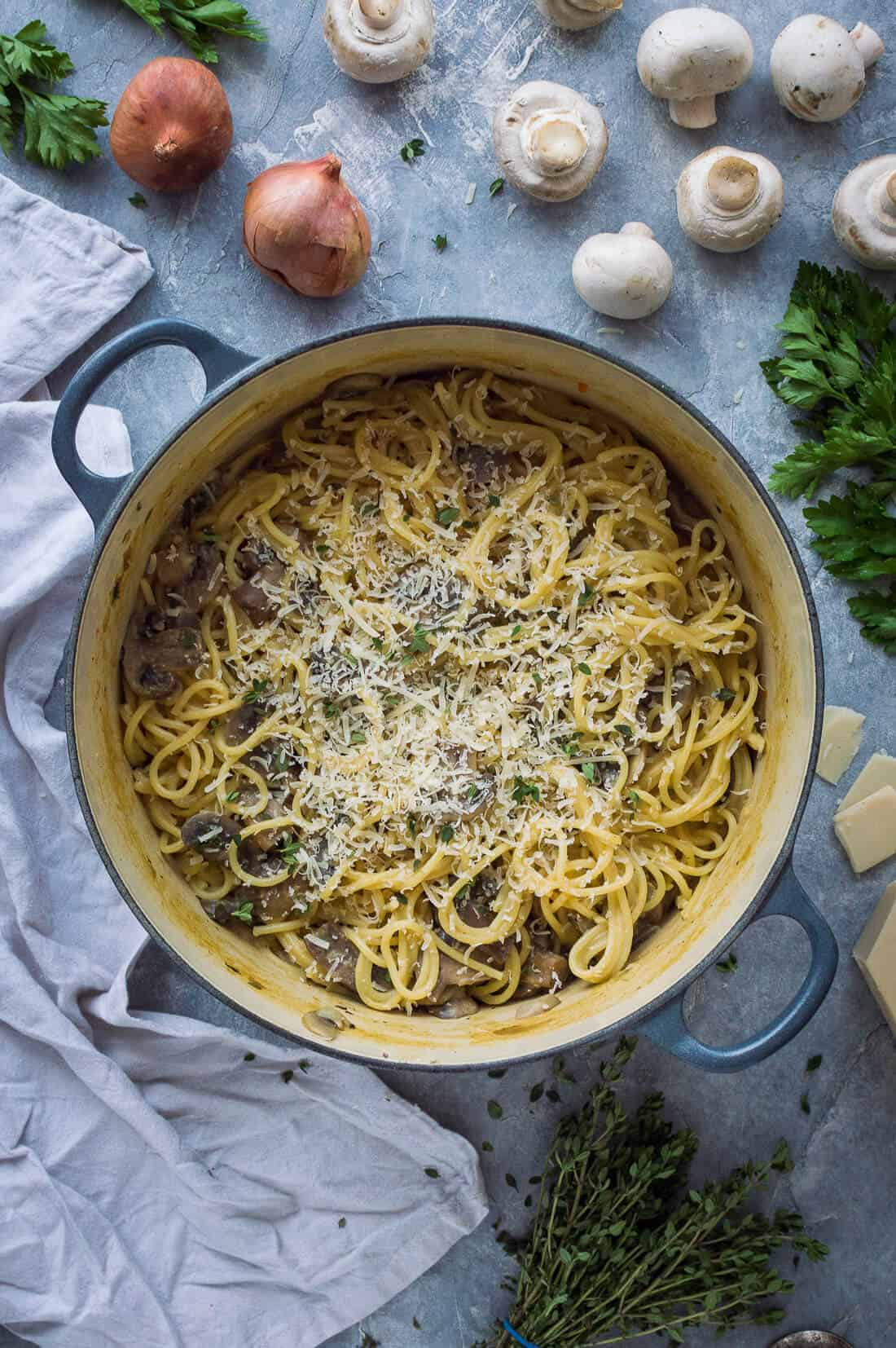 One Pot Mushroom Pasta Vegan Domestic Gothess