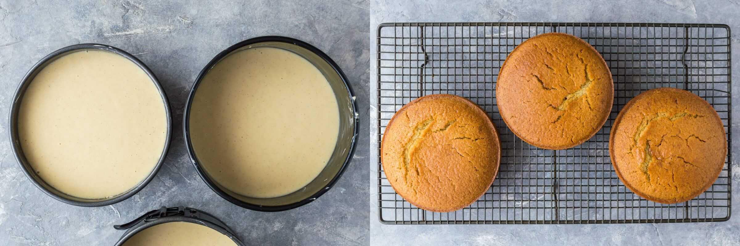 Splitting A Cake Mix Into  Tins