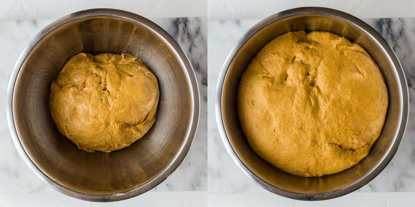 pumpkin dinner rolls step 3