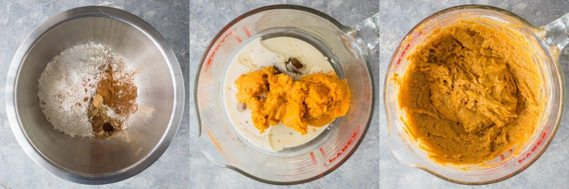 vegan sweet potato bread step 1
