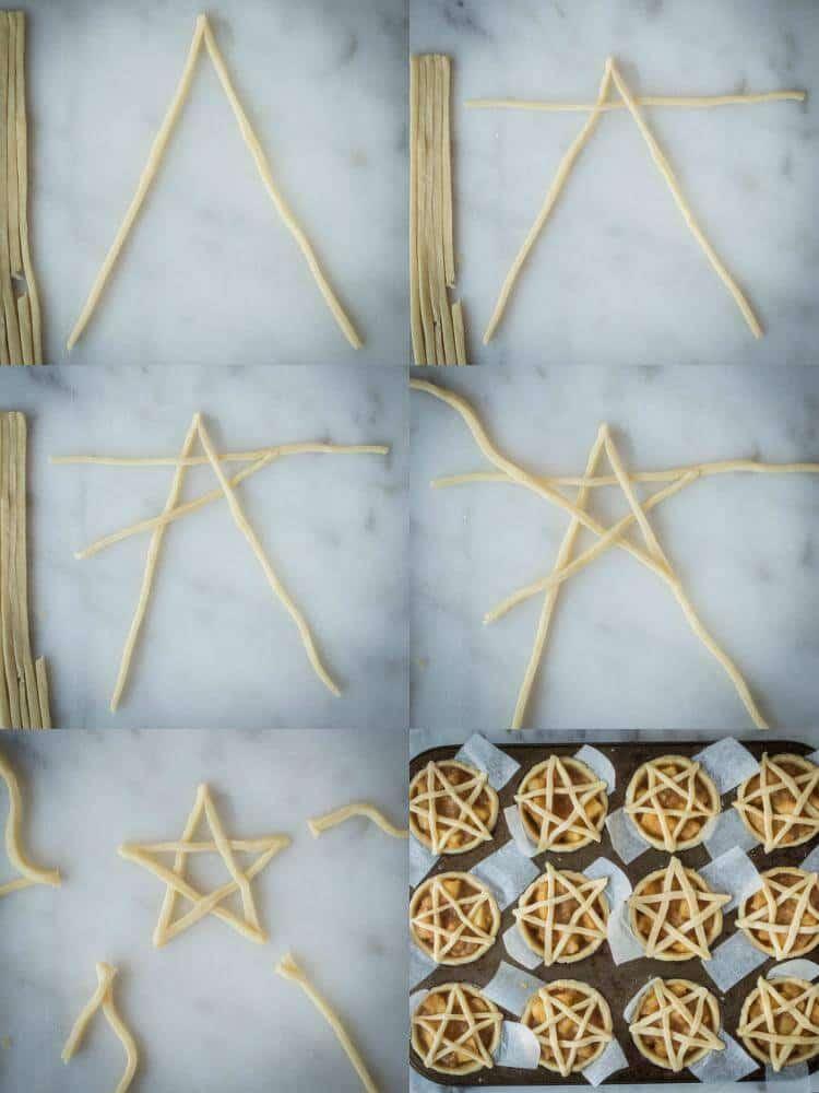 pentagram topped vegan apple pies step 4