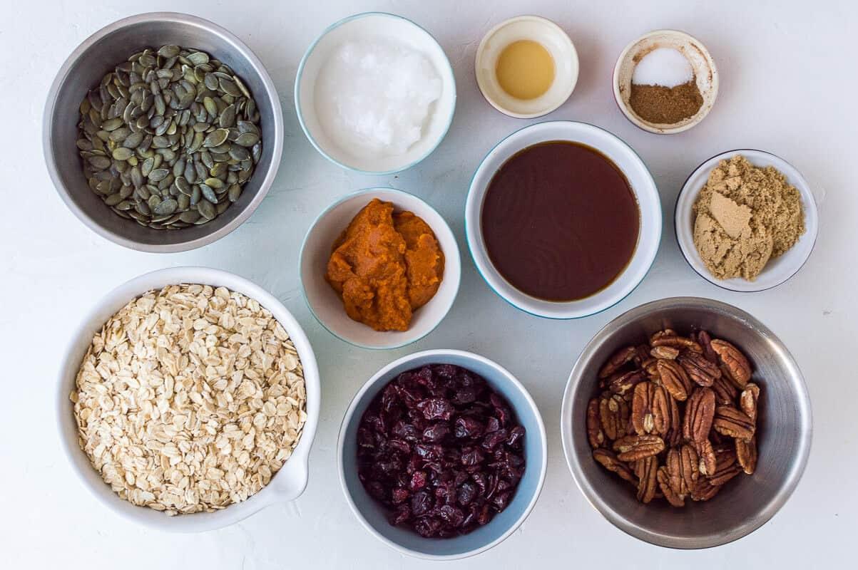 pumpkin spice granola ingredients
