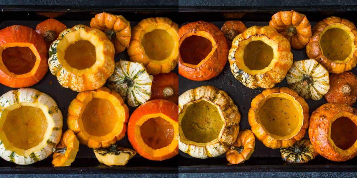 stuffed mini pumpkins step 1