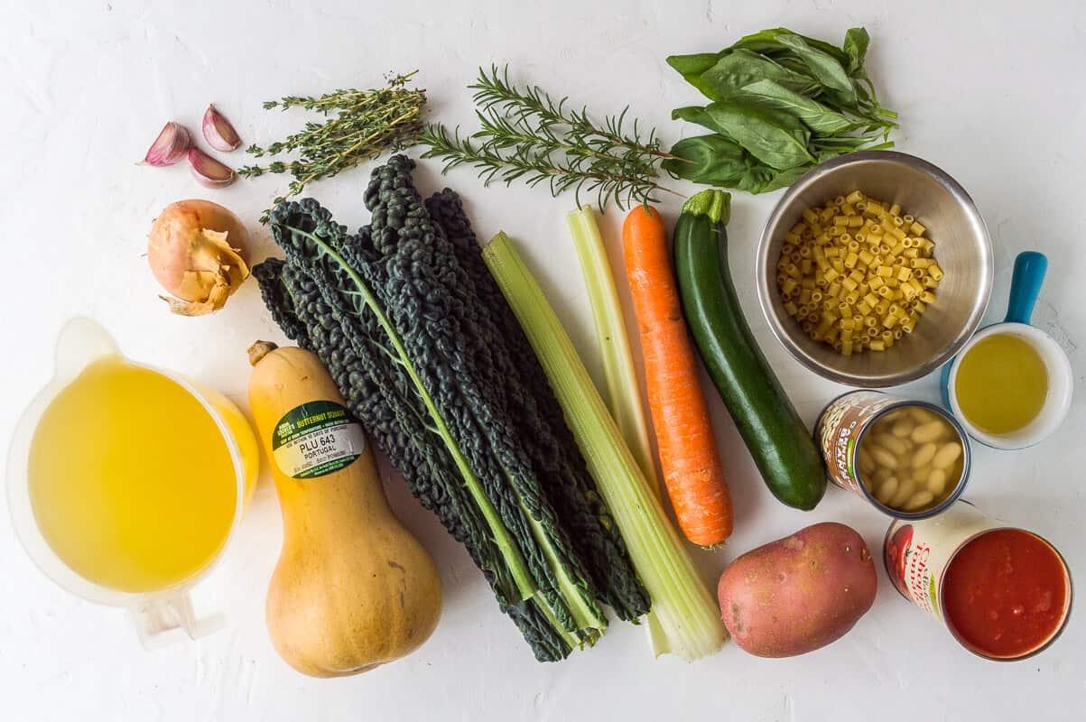 autumn minestrone soup ingredients