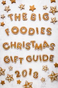 Looking for the perfect Christmas gift for a foodie? Read the Domestic Gothess 2018 foodies Christmas gift guide for inspiration and enter the giveaway for a chance to win awesome foodie prizes!