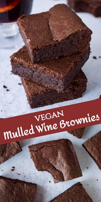 vegan mulled wine brownies pinterest image