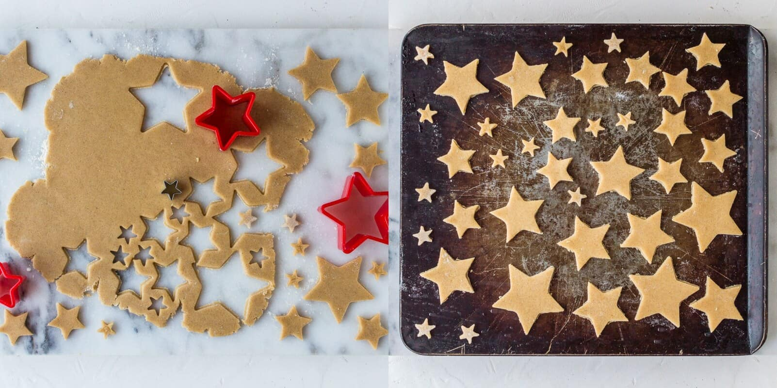 starry mince pie tart step 5 - making the shortbread stars