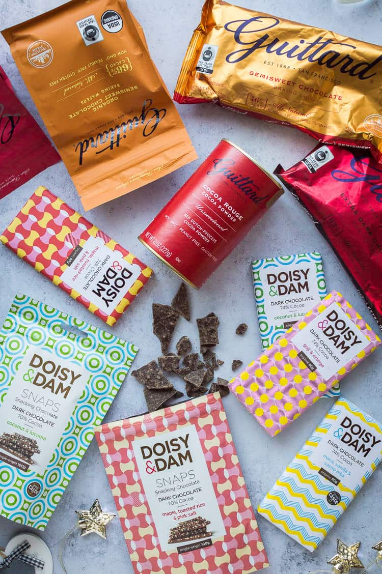 A selection of Guittard and Doisy and Dam chocolates.