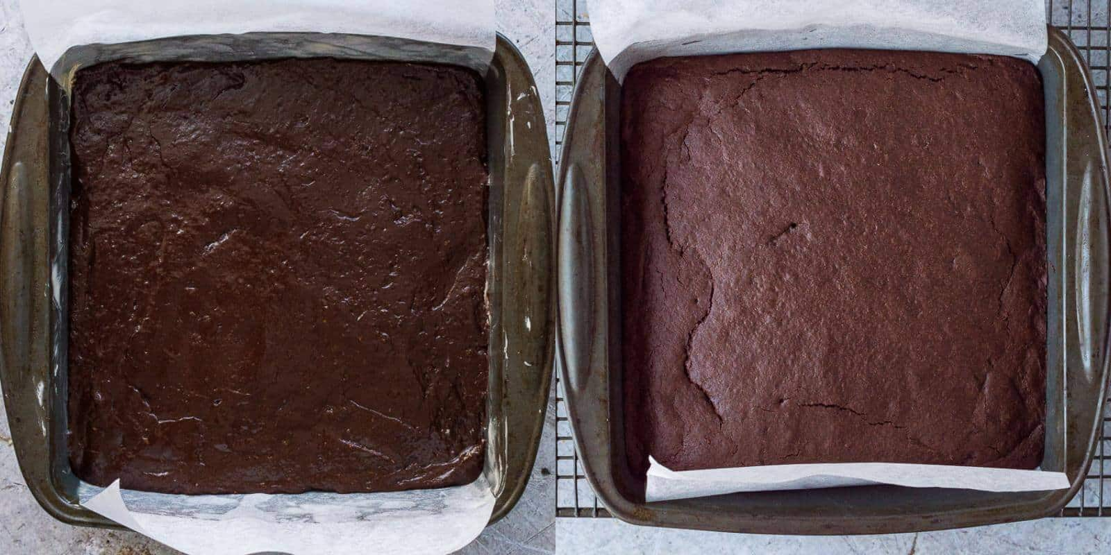 step 4 - baking the brownies