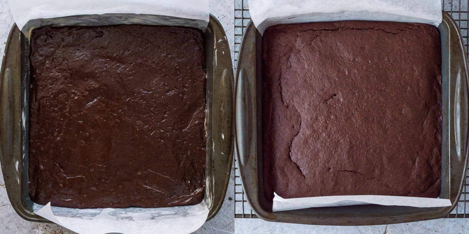 vegan mulled wine brownies step 4 - baking the brownies