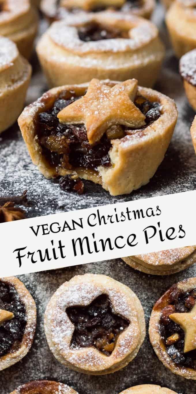 vegan mince pies pinterest image