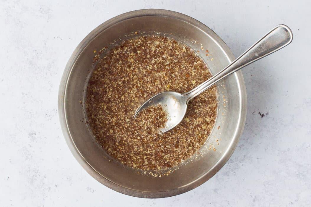 vegan nut roast step 1 - making the flax egg