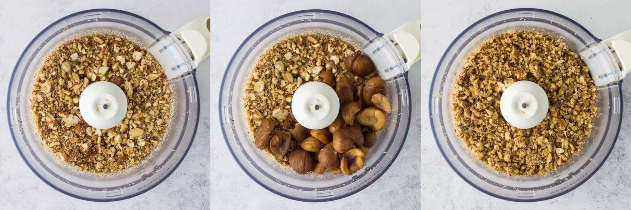 vegan nut roast step 4 - grinding the nuts