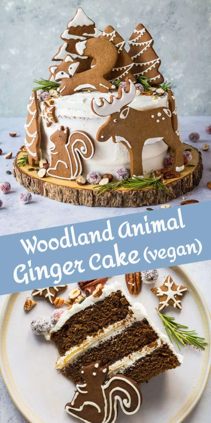 woodland animal ginger cake pinterest image