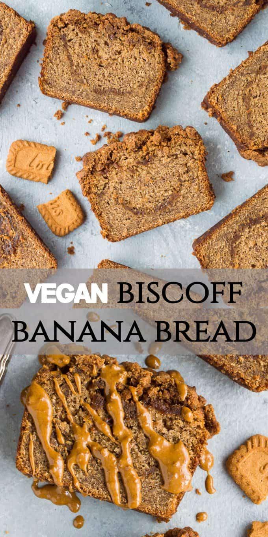vegan biscoff banana bread pinterest image