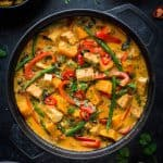Vegan tofu moqueca - a vegan tofu and vegetable version of the traditional Brazilian dish. This vegan moqueca is easy to make, healthy, satisfying and full of delicious tropical flavours. #vegan
