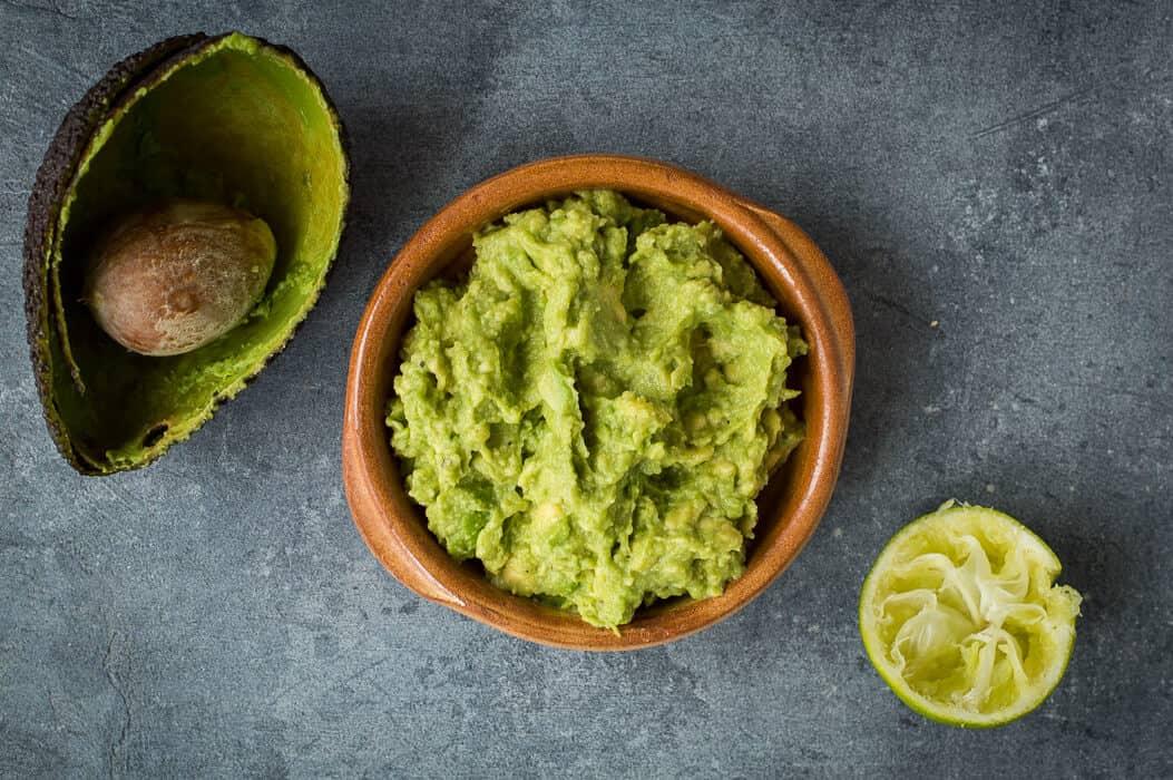 Making the guacamole