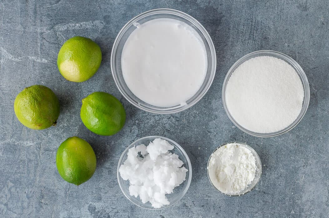 vegan coconut lime curd ingredients