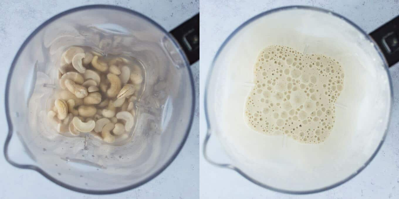 step 1 - blending the cashews