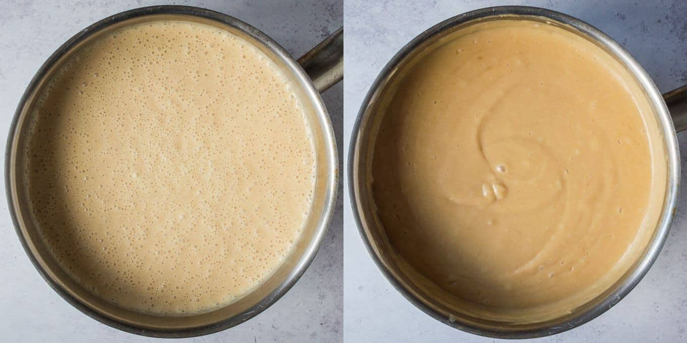 step 3 - cooking the custard.