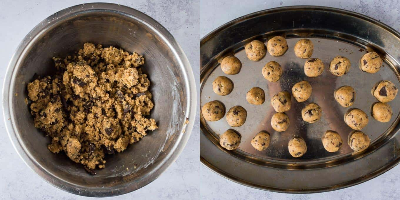 step 4 - making the cookie dough