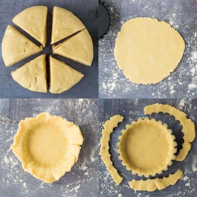 step 2 - lining the tart tins