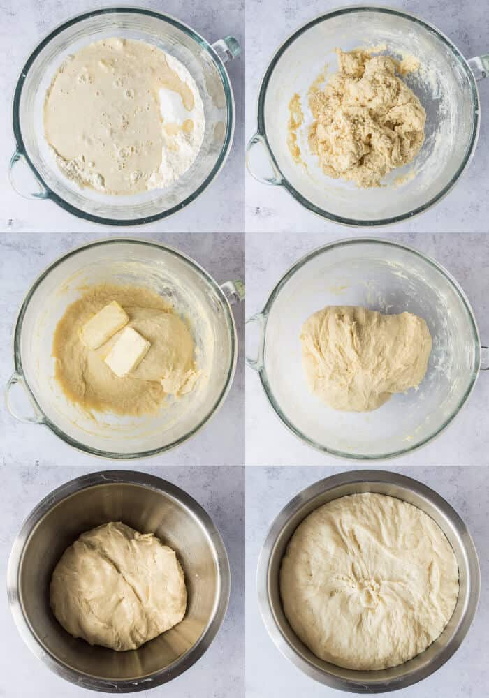 Step by step of making the dough